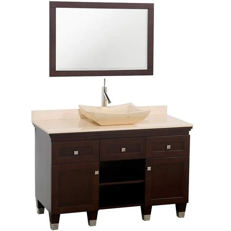 Single Vanity With Vessel Sink by 48 Quot Premiere Single Vessel Sink Vanity Espresso
