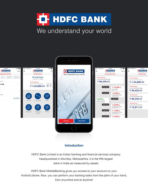 Hdfc Bank Mobile Banking Concept App Redesign On