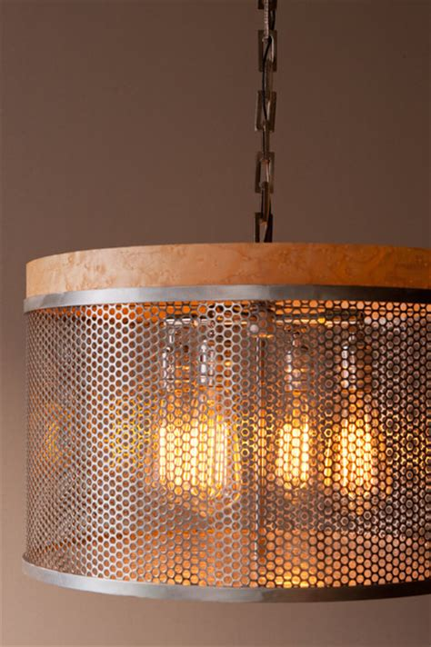 Drum Lights For Kitchen Metal Drum Lights Contemporary Pendant Lighting Portland Maine By Inspired Wire Studio