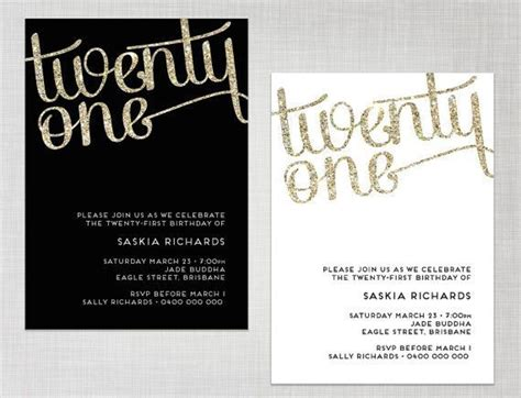 21st invitation templates 25 best ideas about 21st birthday invitations on