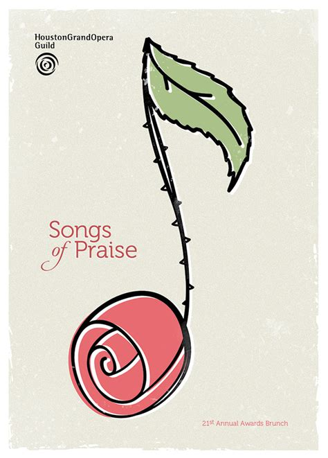 songs of praise poster design by tm