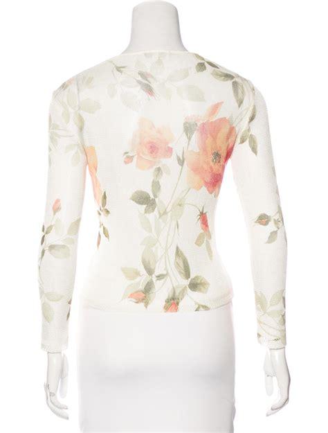 Print V Neck Cardigan roberto cavalli floral print v neck cardigan clothing