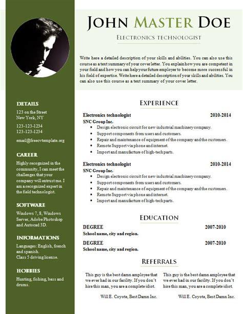 Curriculum Vitae Sles Word Document Free Cv Template 681 687 Free Cv Template Dot Org