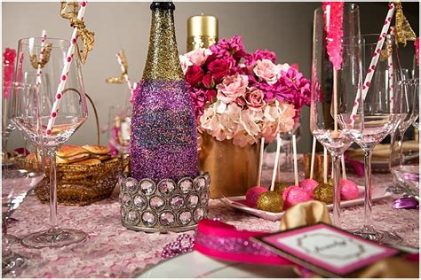 purple pink theme bridal wedding shower party ideas pink gold glam tennessee bridal shower
