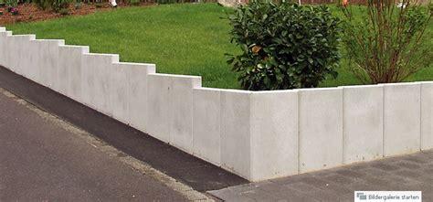 L Steine Aus Beton by U Steine L Steine Mauerscheiben Garten