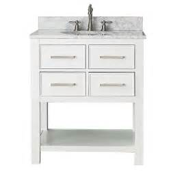 white 30 inch vanity combo with white