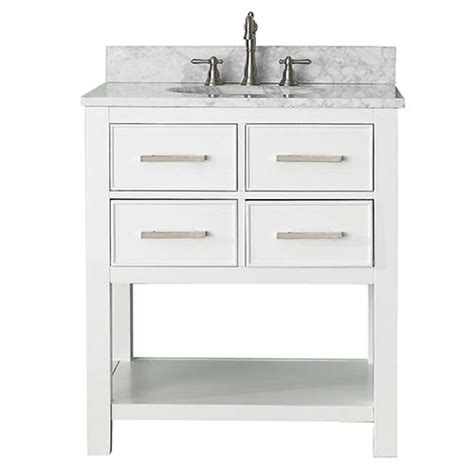 30 in bathroom vanity combo brooks white 30 inch vanity combo with carrera white