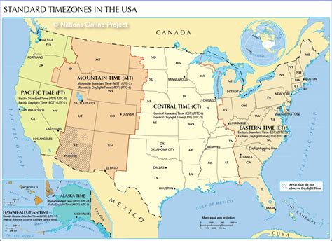map of us time zones by state time zone map of the united states nations project
