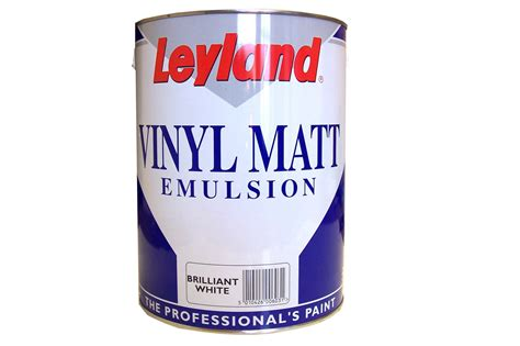 5 litres white matt emulsion paint elevator equipment