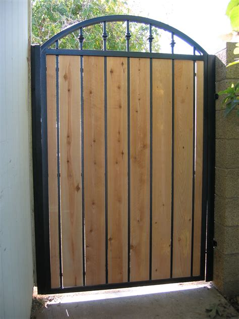 Decorative Privacy Fences by Iron Gates W Wood Martins Fencing Fabricating And