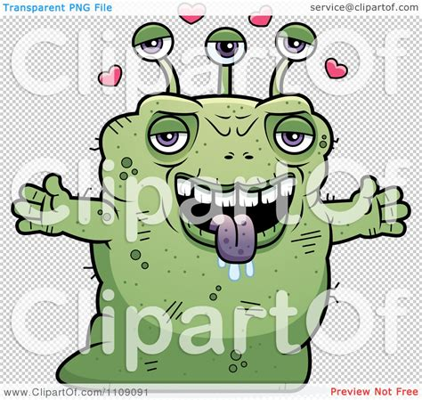 ugly green clipart ugly green alien with open arms royalty free