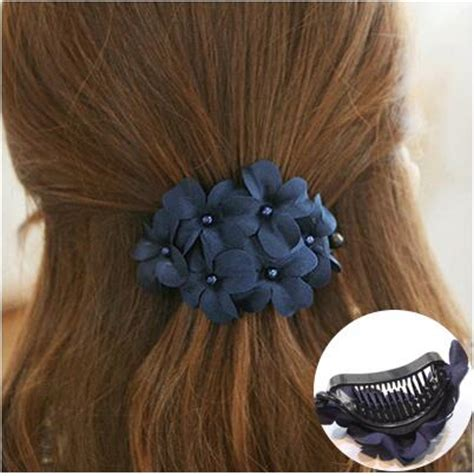 wholesale hair claw clips korean fashion ponytail holder flower hair claw clip