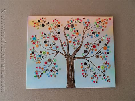 canvas craft projects five things friday button crafts keepsmeoutofmischief