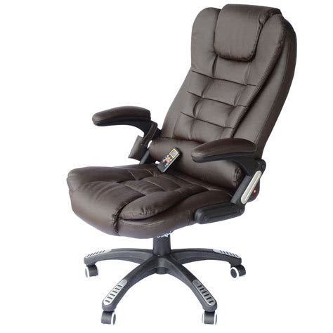 heated recliner chairs homcom deluxe heated vibrating pu leather massage recliner