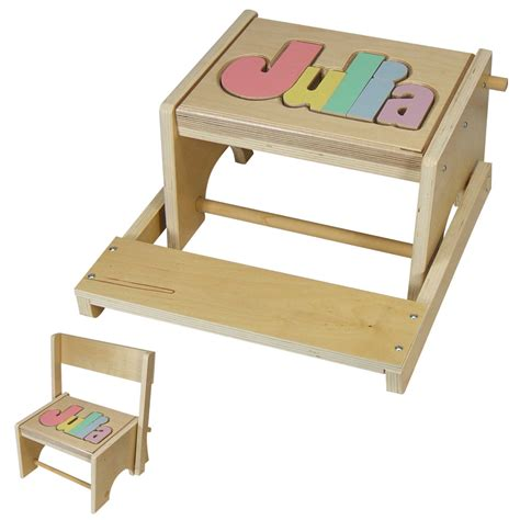Puzzle Stools by Personalized Flip Back Name Puzzle Stool Creative Kidstuff