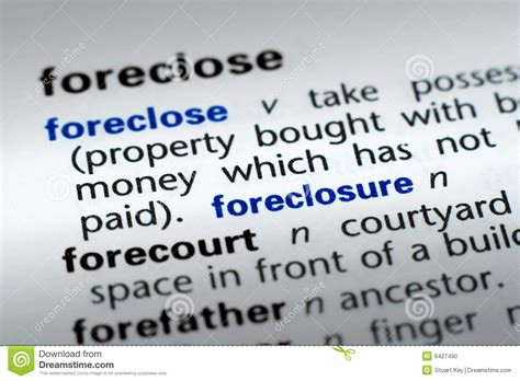 stock images definition definition of foreclosure stock photo image 6427490