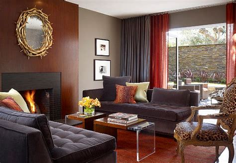 red and gray living room 3 tricks to make your home cozier
