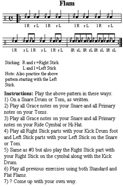 drum tutorial flam rudiments around the drums part 2