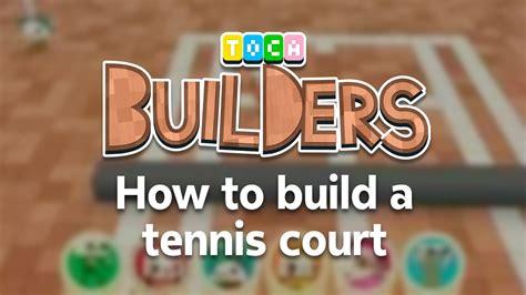 toca builders app walkthrough how to build a tennis