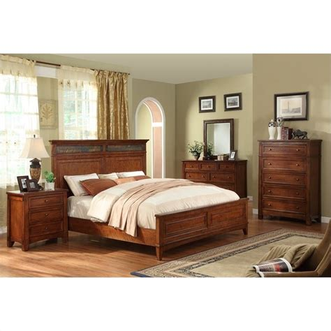 riverside furniture craftsman home panel americana oak bed