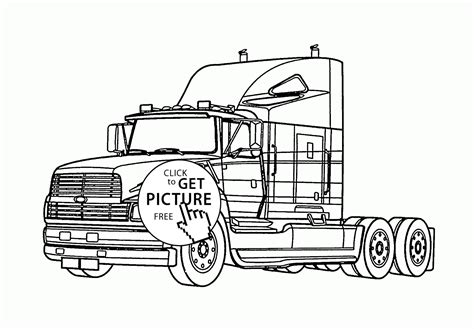 semi truck coloring pages semi truck coloring page for transportation coloring