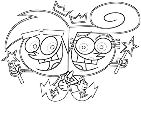 16 fairly oddparents coloring pages print color craft