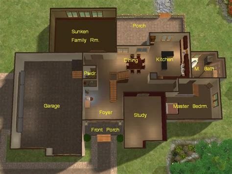 Starter Home Floor Plans mod the sims mountainview 3 bedroom 2 story home with