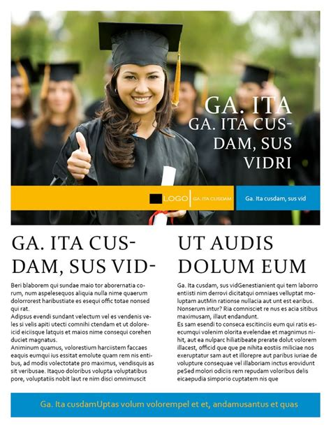 flyer design university college print flyer template for indesign university
