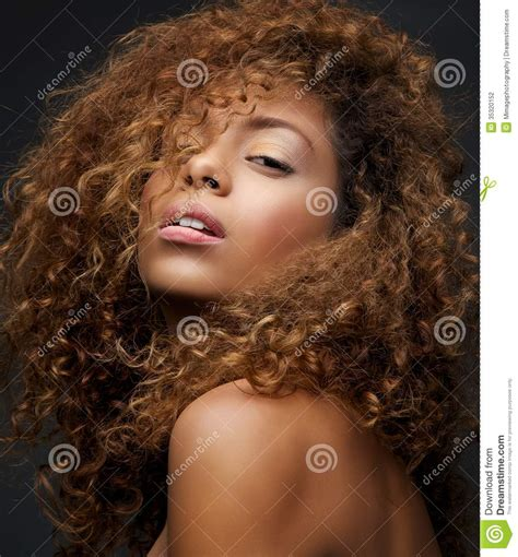curly hair model beauty portrait of a female fashion model with curly hair
