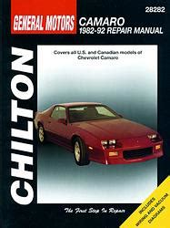 car manuals free online 1992 chevrolet g series g30 interior lighting chevrolet camaro 3 et 4 revues techniques haynes et chilton 5