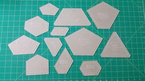 paper piecing plastic templates paper piecing