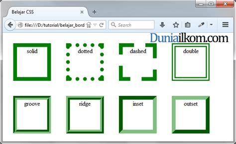 tutorial css untuk pemula pdf tutorial css cara membuat garis tepi html border