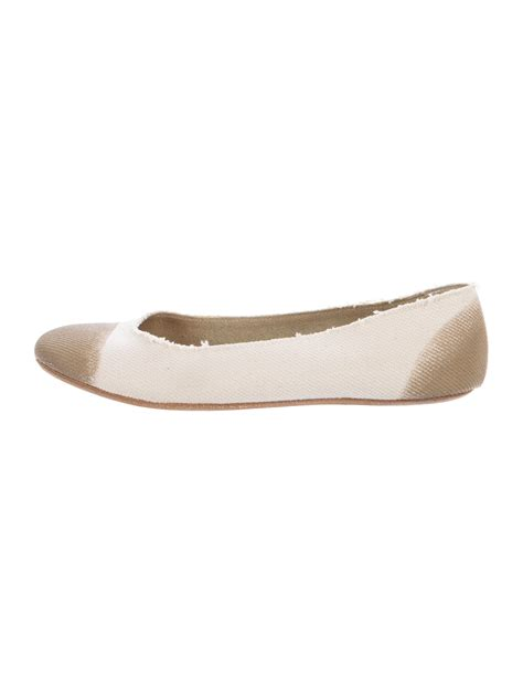 Flats Two Tone jil sander two tone ballet flats shoes jil36149 the