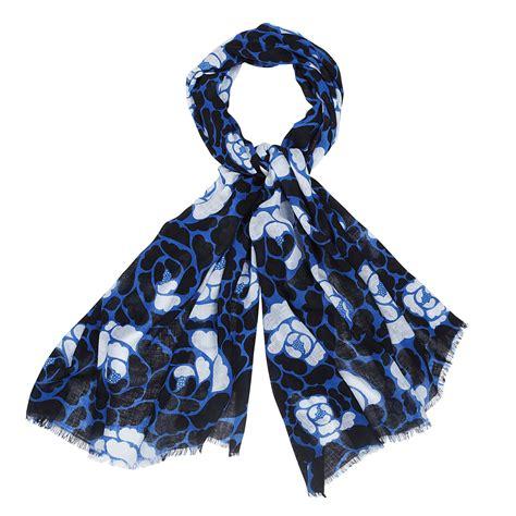 marimekko valamonruusu blue scarf marimekko scarves