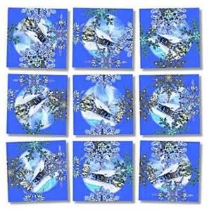 snowflakes scramble squares 9 piece brain teaser puzzles