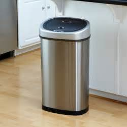 stainless steel kitchen trash can nine dzt 50 9 touchless stainless steel 13 2 gallon