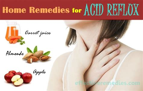 home remedies for acid reflux and heartburn