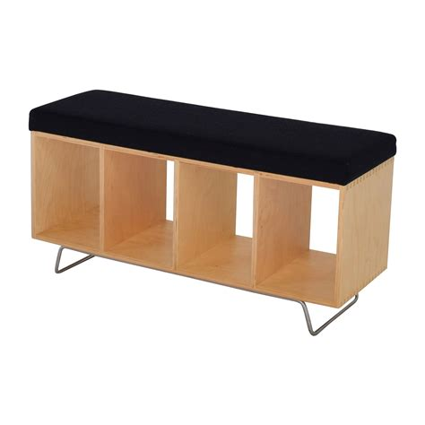 bookshelf seating bench 69 off offi co bench bookcase with seating cushion