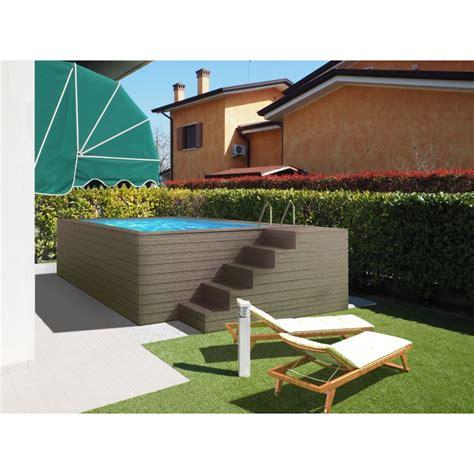 rivestimento in legno per piscine fuori terra piscina fuori terra con scala laterale e rivestimeto in wpc
