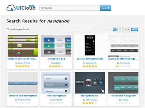 design inspiration search engine uicloud powerful search engine for ui elements and design