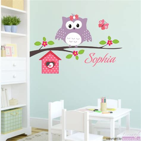 Wandtattoo Kinderzimmer Eule by Wandtattoo Kinderzimmer Happy Eule Name Wandsticker