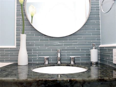 glass tile for bathrooms ideas cool glass tile backsplash in bathroom ideas 4467