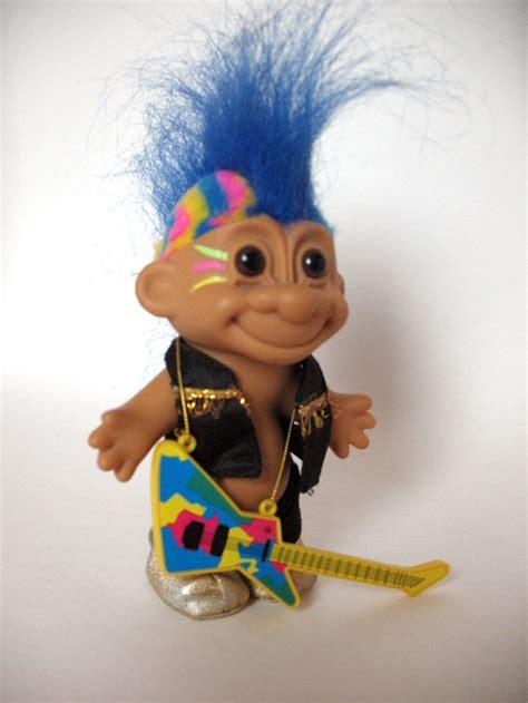 items similar to vintage punk rocker russ troll doll on etsy