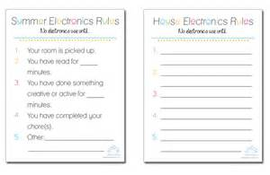 Electronic Checklist Template by Silver Dolphin Books Free Summer Electronics