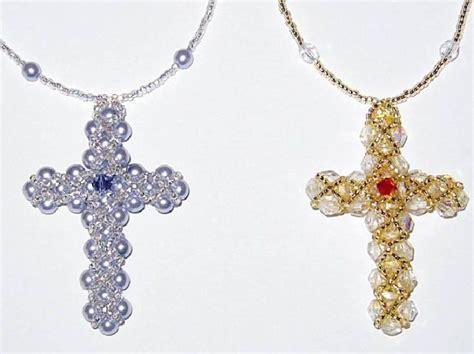 beaded cross beaded crosses beaded cross hearts patterns tutorials