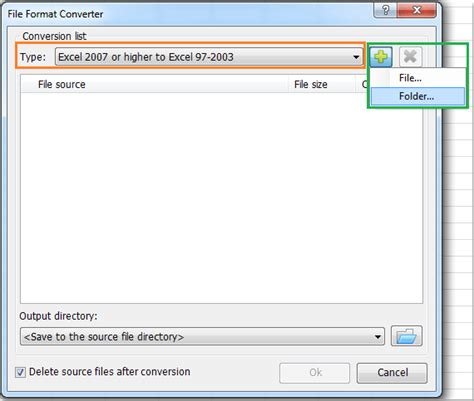 format file doc how to convert multiple xlsx formats to xls formats or