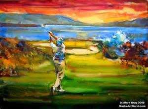 golf art paintings