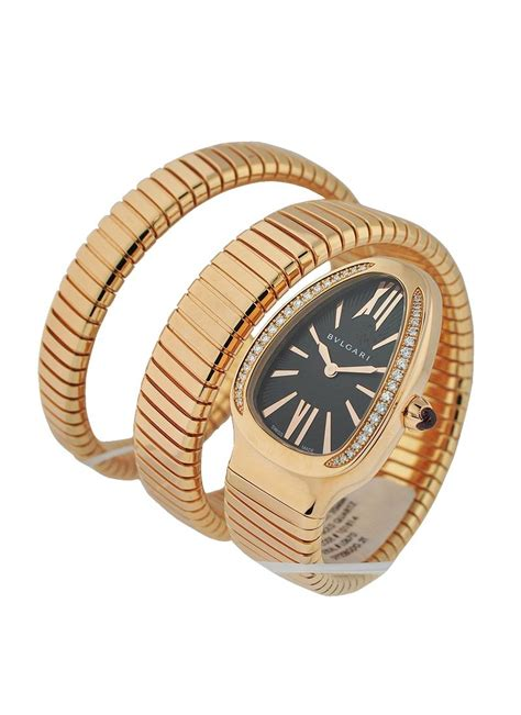 Bangle Bvlgari Black Dots With Diamonds Gold Bangle 101814 spp35bgdg 2t bvlgari serpenti gold essential watches
