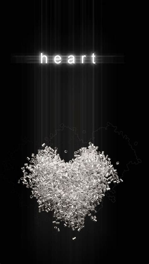 heart black background iphone  wallpaper enter http