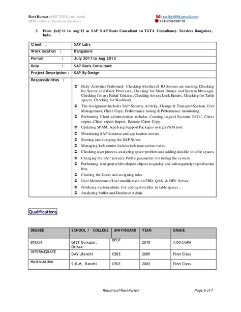 sap functional consultant resume sle sap crm functional consultant resume sap functional